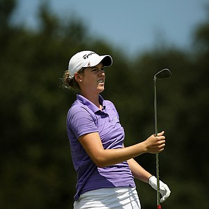 Jessie Gerry of Madison, Wis., during the first day of LPGA Qualifying School at LPGA International.