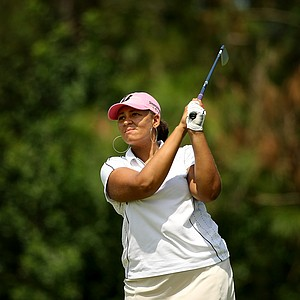 Vanessa Brockett posted a 70 on the Champions course during the first day of LPGA Qualifying School at LPGA International.