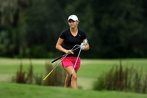 Emily Talley during the first day of LPGA Qualifying School at LPGA International.