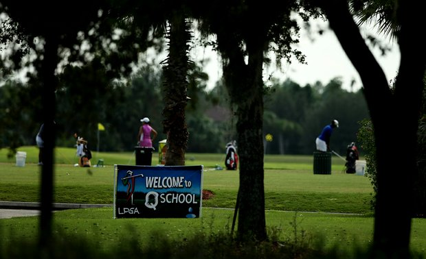Two-hundred forty participents started the first day of LPGA Qualifying School at LPGA International's Legends and Champions courses.