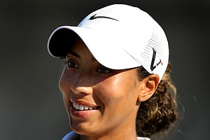 Cheyenne Woods posted a 77 on the first day of LPGA Qualifying School at LPGA International.