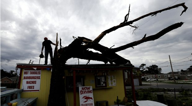 The aftermath of Hurricane Isaac in Arabi, La.