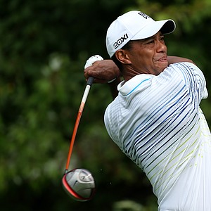 Tiger Woods during the second round of the BMW Championship at Crooked Stick Golf Club.