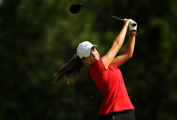 Marta Silva during LPGA Qualifying School.