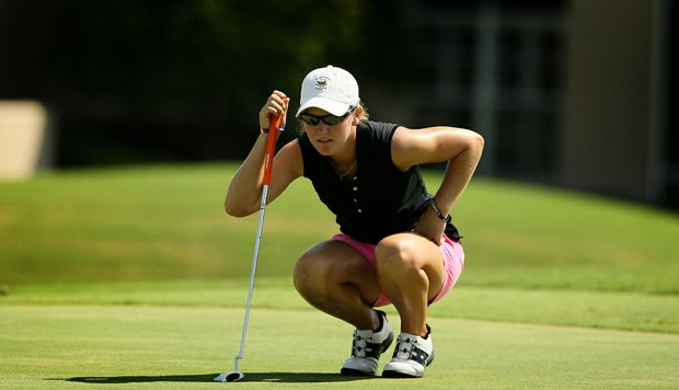 Austin Ernst during the final round of Stage 1 of LPGA Qualifying School.