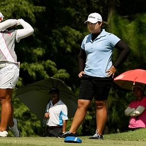 Moriya Jutanugarn, left, and her siter Ariya during the final round of Stage 1 of LPGA Qualifying School.