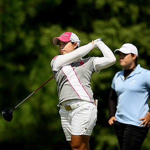 Moriya Jutanugarn at the final round of Stage 1 of LPGA Qualifying School.