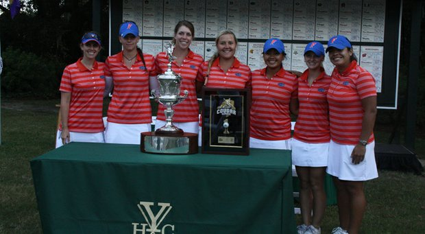 The Florida women after a season-opening victory at the Cougar Classic.