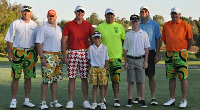 Kyle Lograsso and his seven playing partners had a goal to raise $50,000. After 109 holes, he raised $90,000.