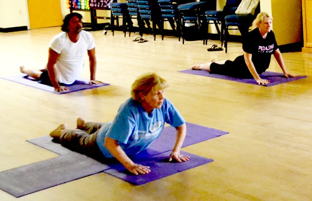The Orlando JCC offers three kinds of yoga classes.