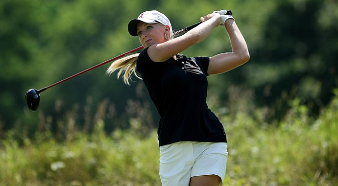 Alabama's Brooke Pancake hits a shot a the 2012 NCAA Division I Women's Golf Championships.