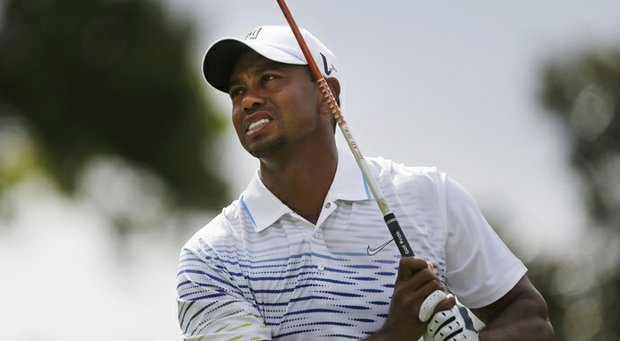 Tiger Woods during the first round of the Tour Championship.