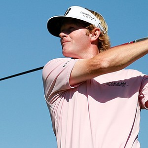 Brandt Snedeker watches his tee shot on the seventh hole during the final round of the Tour Championship.