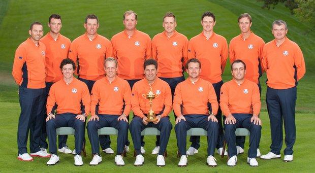 The 2012 European Ryder Cup team at Medinah CC.