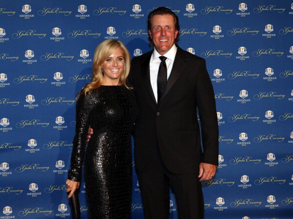 Phil Mickelson of the USA and his wife Amy Mickelson attend the 39th Ryder Cup Gala at Akoo Theatre at Rosemont on September 26, 2012 in Rosemont, Illinois.