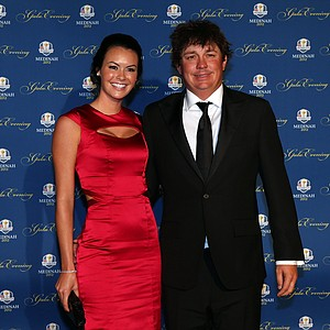 Jason Dufner of the USA and his wife Amanda Dufner attend the 39th Ryder Cup Gala at Akoo Theatre at Rosemont on September 26, 2012 in Rosemont, Illinois.