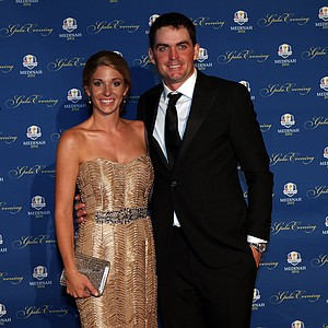 Keegan Bradley of the USA and his partner Jillian Stacey attend the 39th Ryder Cup Gala at Akoo Theatre at Rosemont on September 26, 2012 in Rosemont, Illinois.