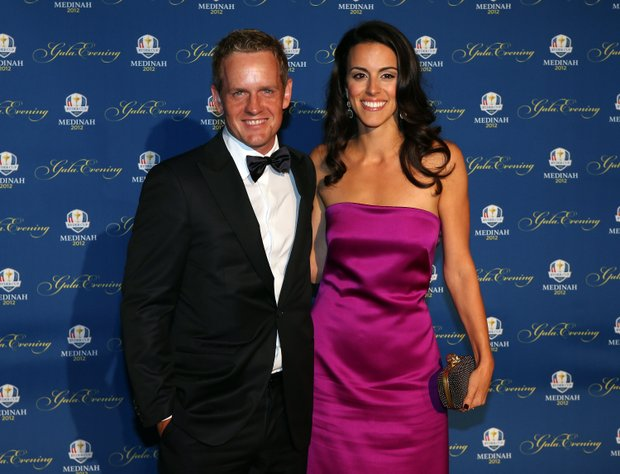 Luke Donald of Europe and his wife Diane Donald attend the 39th Ryder Cup Gala at Akoo Theatre at Rosemont on September 26, 2012 in Rosemont, Illinois.