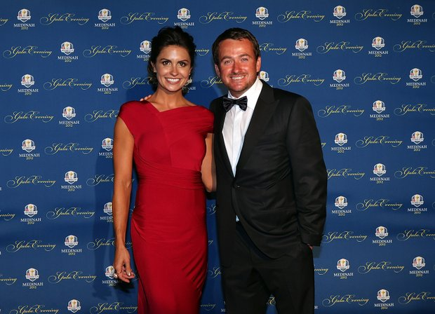 Graeme McDowell of Europe and his partner Kristin Stape attend the 39th Ryder Cup Gala at Akoo Theatre at Rosemont on September 26, 2012 in Rosemont, Illinois.