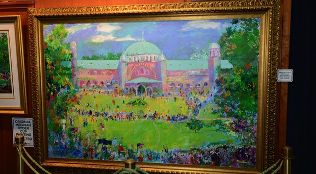 LeRoy Neiman's painting of the Medinah Country Club clubhouse.