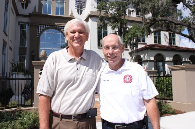 Maitland Assistant City Manager Brian Jones and Fire Chief Ken Neuhard are both retiring this week after each working 25 years for the city.