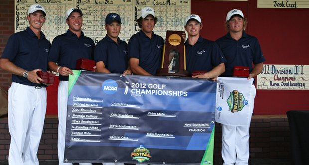 The Nova Southeastern men's team after winning the 2012 NCAA Division II Championship.