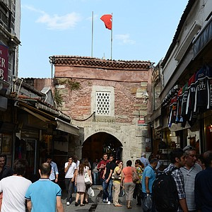 A look at Gate 5 of the Grand Bazaar in Instanbul, Turkey.