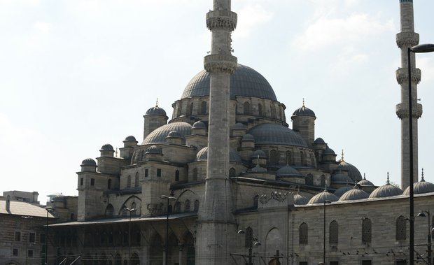 The New Mosque in Istanbul, Turkey.
