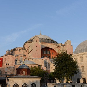 The Hagia Sophia in Istanbul, Turkey. Justinianus the Great was responsible for building the church, turned into a mosque when seized by the Turks in 1453 and then into a museum in 1930.