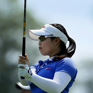 Moriya Jutanugarn at the U. S. Women's Amateur Championship at Rhode Island Country Club in Barrington, Rhode Island.