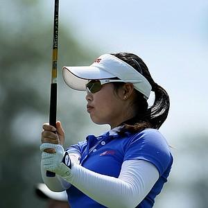 Moriya Jutanugarn at the U. S. Women's Amateur Championship at Rhode Island Country Club in Barrington, Rhode Island.