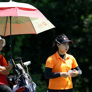 Moriya Jutanugarn during the Round of 32 at the U. S. Women's Amateur Championship.