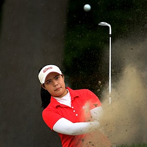 Moriya Jutanugarn during the final round at the U. S. Women's Amateur Championship at Rhode Island Country Club.