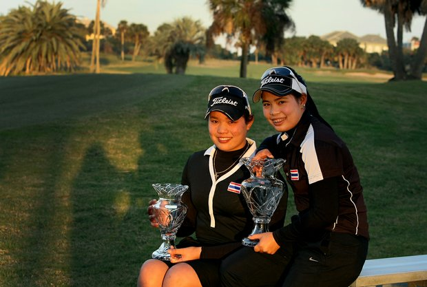 Moriya, right, and Ariya, left, took first and second at the 86th South Atlantic Amateur at Oceanside Country Club.