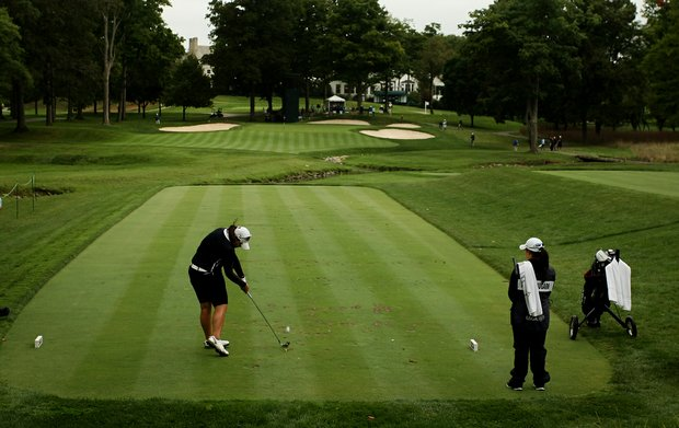 Ariya Jutanugarn during the semifinals at the 112th U. S. Women's Amateur Championship in Cleveland.