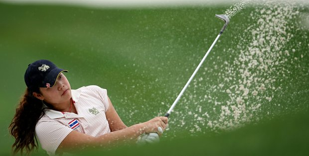 Ariya Jutanugarn during the 61st U. S. Girls' Junior Championship at Trump National Golf Club in Bedminster, New Jersey.