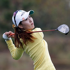 INCHEON, SOUTH KOREA - OCTOBER 20: Bo-Yeon Lee of South Korea plays a shot on the 5th hole during the second round of KEB-HanaBank Championship at Sky 72 Golf Club Ocean Course on October 20, 2012 in Incheon, South Korea.