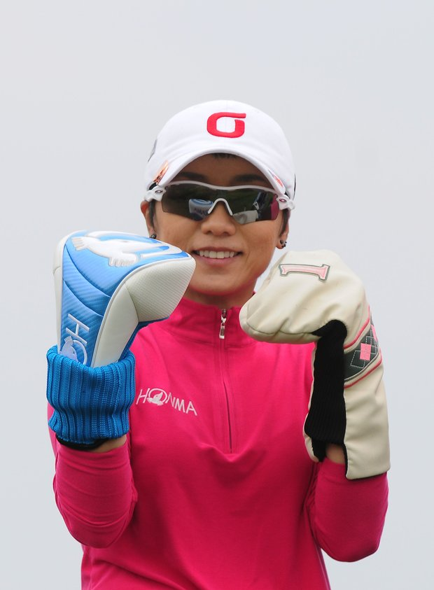 INCHEON, SOUTH KOREA - OCTOBER 20: Mi-Hyun Kim of South Korea on the 6th hole during the second round of KEB-HanaBank Championship at Sky 72 Golf Club Ocean Course on October 20, 2012 in Incheon, South Korea.