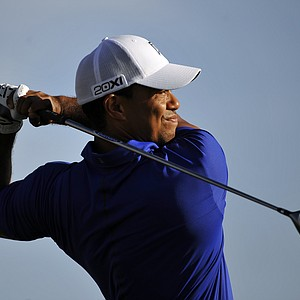Tiger Woods tees off on the 13th hole during the second round of the Honda Classic golf tournament in Palm Beach Gardens, Fla., Friday, March 2, 2012.