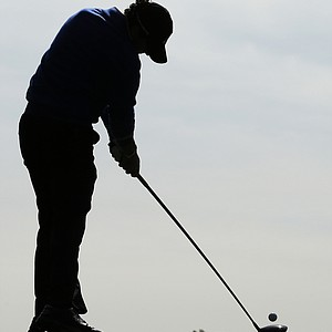 Europe's Rory McIlroy hits a shot on the sixth hole during a practice round at the Ryder Cup PGA golf tournament Wednesday, Sept. 26, 2012, at the Medinah Country Club in Medinah, Ill.