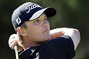 Matt Jones, of Australia, watches his shot down the 10th fairway during the third round of the McGladrey Classic PGA Tour golf tournament, Saturday, Oct. 20, 2012, in St. Simons Island, Ga.
