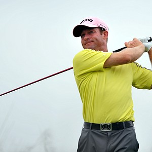 Gary Christian, of England, watches his drive off the 15th tee during the first round of The McGladrey Classic PGA Tour golf tournament Thursday, Oct. 18, 2012 in St. Simons Island, Ga.