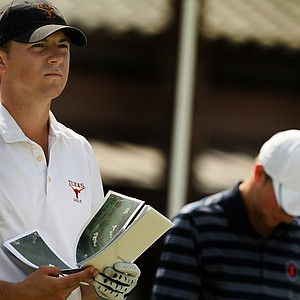 Jordan Spieth of Texas looks over his shot at No. 10 during the Isleworth Collegiate Invitational.