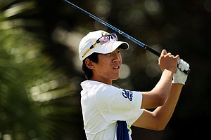 Michael Kim of University of California during the Isleworth Collegiate Invitational.