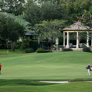 The second to last group at No. 18 during the Isleworth Collegiate Invitational.