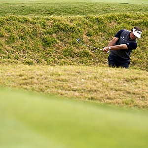 Phil Mickelson plays during the final round of the Northern Trust Open golf tournament at Riviera Country Club in Los Angeles, Sunday, Feb. 19, 2012.