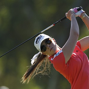 Paula Creamer plays during the second round of the LPGA Kraft Nabisco Championship golf tournament in Rancho Mirage, Calif., Friday, March 30, 2012.
