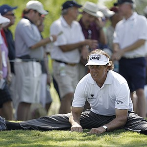 Phil Mickelson during the first round of the Byron Nelson Golf Championship tournament, Thursday, May 17, 2012, in Irving, Texas.