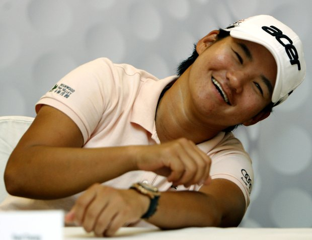 Yani Tseng of Taiwan reacts during a press conference in Kuala Lumpur, Malaysia, Tuesday, Oct. 9, 2012. Malaysia will host the LPGA Malaysia golf tournament from Oct. 11-14.