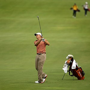 Jordan Spieth of Texas hits his shot at No. 7 during the Isleworth Collegiate Invitational. Spieth finished solo 5th.
